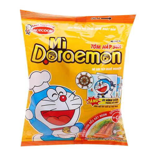 Mì Doraemon hương vị Tôm hấp sữa gói 62g
