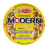 Mì ly Modern vị Tôm chua cay 24 hộp x 65g