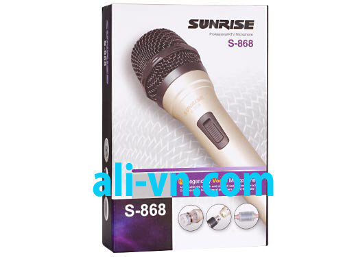 Micro karaoke có dây Sunrise S-868