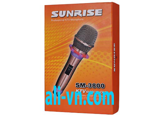 Micro karaoke có dây Sunrise SM-3800
