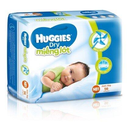 Miếng lót Huggies Newborn 1 56 miếng (trẻ từ 0 - 5kg)