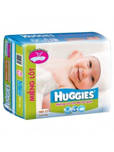 Miếng lót Huggies Newborn 1 66 miếng (trẻ từ 0 - 5kg)