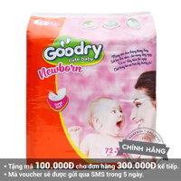Miếng lót sơ sinh Goodry 72 miếng