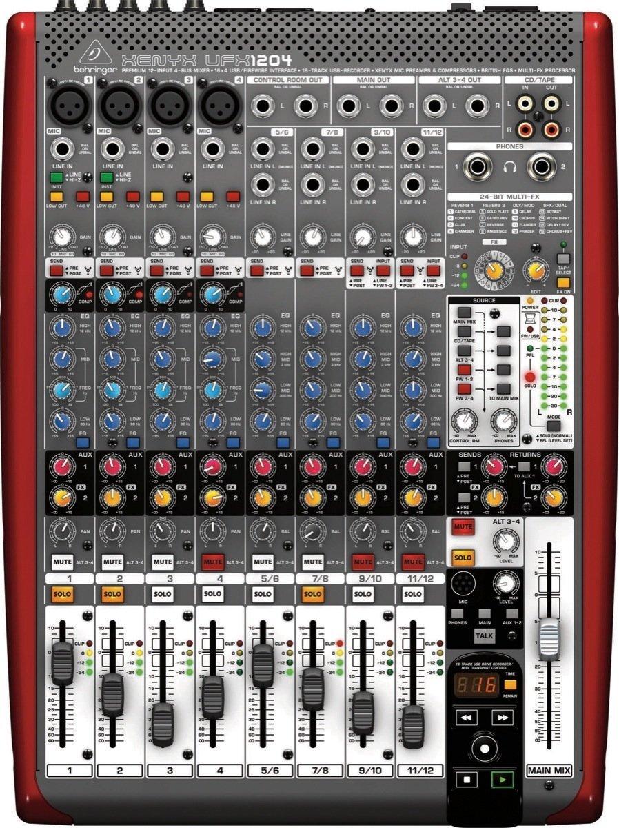 Mixer Behringer Xenyx UFX1204
