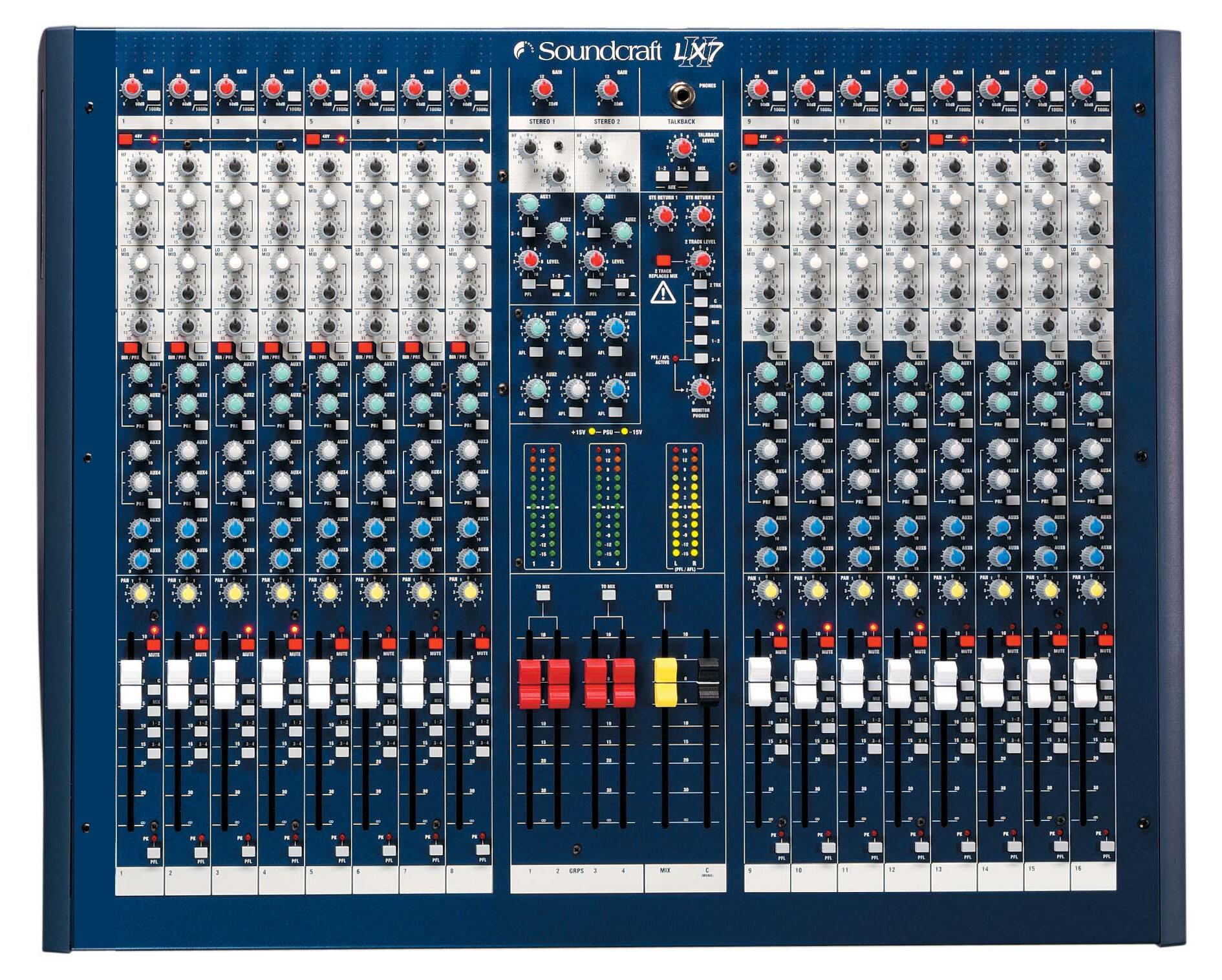 Mixer SoundCraft LX7II/16