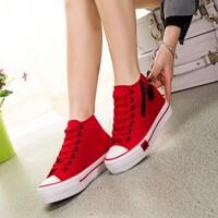 Giày thể thao nữ tăng chiều cao họa tiết đôi môi màu đỏ TT57