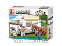 Bộ lắp ráp xe vận chuyển ngựa Sluban M38-B0559
