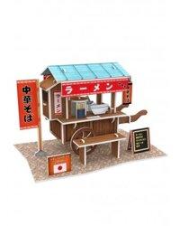 Mô hình 3D xe bán thức ăn Ramen Stand CubicFun W3103H