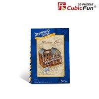 Mô Hình Giấy Western Bar Cubic Fun W3122h