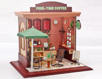 Mô hình gỗ quán coffee Free Time Coffee Tiny House C001