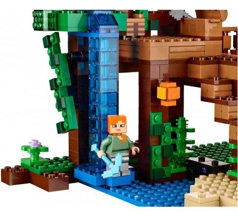 Mô hình Lego Minecraft – Khu nhà trên cây 21125 (706 mảnh ghép)