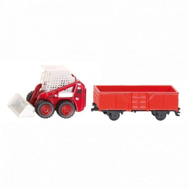Mô hình máy xúc và toa chở hàng Siku 1071/1072