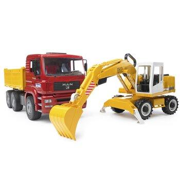 Mô hình xe ben và xe xúc Man TGA Bruder BRU02751