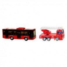 Mô hình xe cứu hỏa và xe buýt nội thành Siku 1015/1021