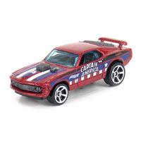 Mô hình xe Hot Wheels Captain America '70 Ford Mustang Mach 1