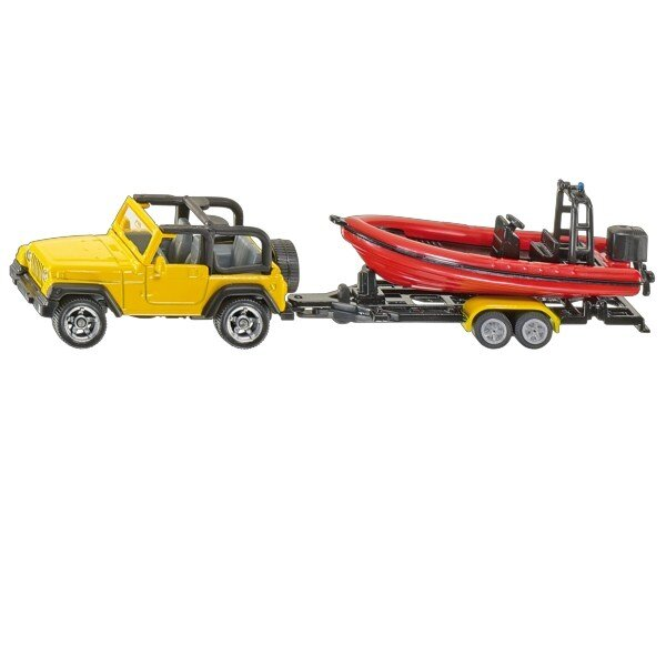 Mô hình xe Jeep và thuyền ca nô Siku 1658