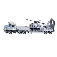 Mô hình xe tải sàn thấp và máy bay trực thăng Siku 1610