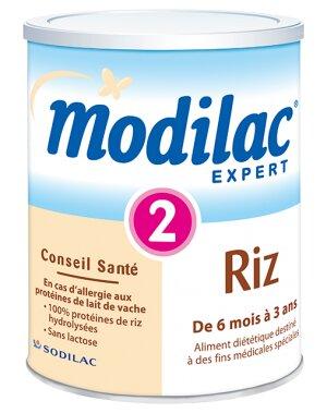 Modilac Expert Riz 2 - Sữa đặc trị khi dị ứng protein sữa bò (cho trẻ từ 6 -12 tháng)