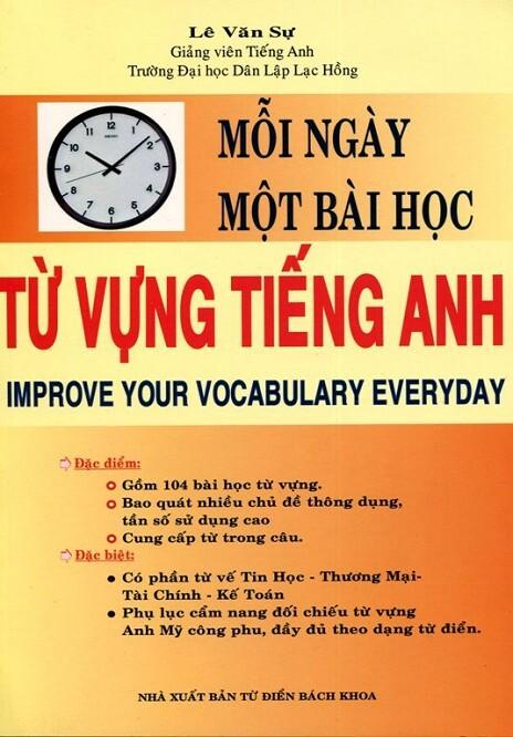 Mỗi ngày một bài học từ vựng Tiếng Anh