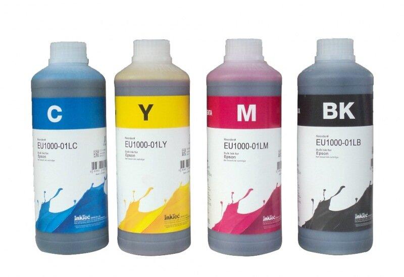 Mực in chuyển nhiệt Sublimation Hàn Quốc InkTec 1000ml (6 màu) - Dùng cho máy in Epson