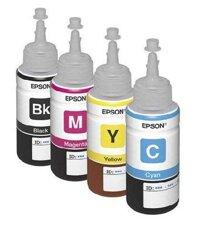 Mực in Epson T6641 (C13T6641) - Dùng cho máy Epson L100, L110, L200, L210, L300, L350, L355, L550