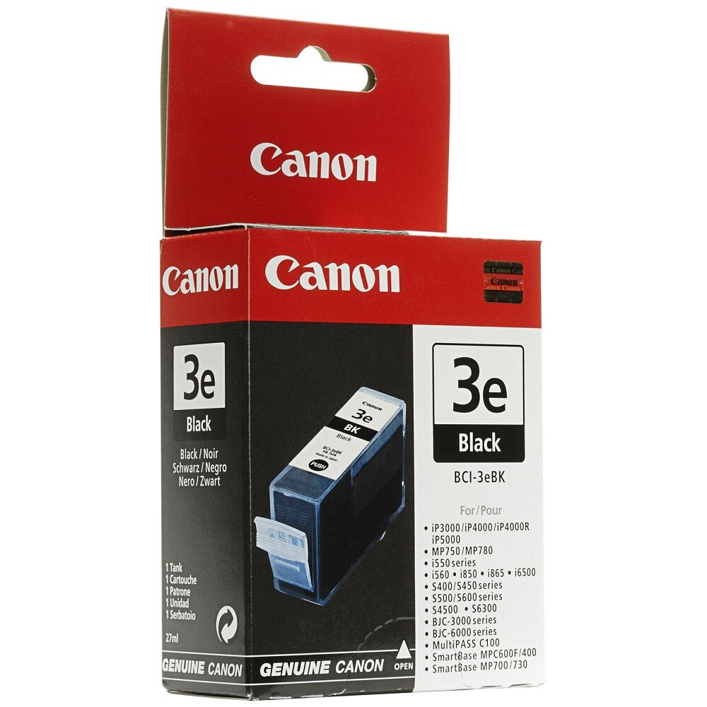 Mực in phun Canon BCI-3EBK - Dùng cho máy in Canon IP3000,  IP4000