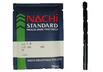 Mũi khoan trụ thép gió Nachi List500-0320, 3.2mm