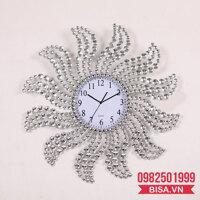Đồng hồ trang trí pha lê thiết kế hiện đại, ấn tượng HQ934