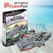 Bộ xếp hình 3D Aircraft Carrier Charles De Gaulle Cubic Fun P631H