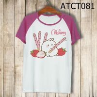Áo thun tay màu Molang ăn pocky ATCT081