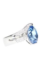 Nhẫn vàng trắng đính đá Topaz 415NT500033 BTJ