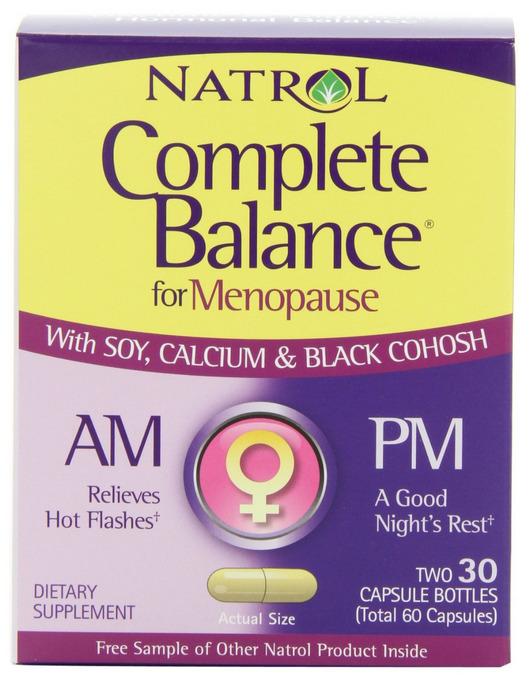 Natrol Complete Balance for Menopause AM – PM: 60 viên, giúp cân bằng hócmôn tự nhiên dành cho phụ nữ mãn kinh và tiền mãn kinh