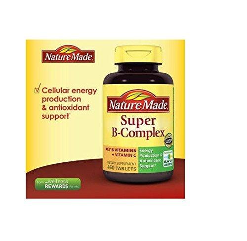 Nature Made Super B-complex – Viên uống bổ sung vitamin B giúp tăng cường sức khỏe, 460 viên