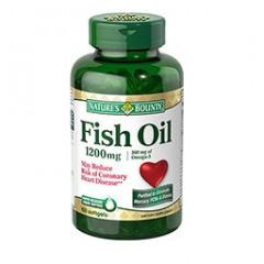 Nature's Bounty Fish Oil Omega 3 – Dầu cá hàm lượng Omega 3 cao, chống bệnh tim mạch vành, 1200mg, 100 viên