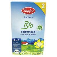 Sữa bột Lactana TopferBio 2 - hộp 600g (dành cho trẻ từ 6-12 tháng tuổi)