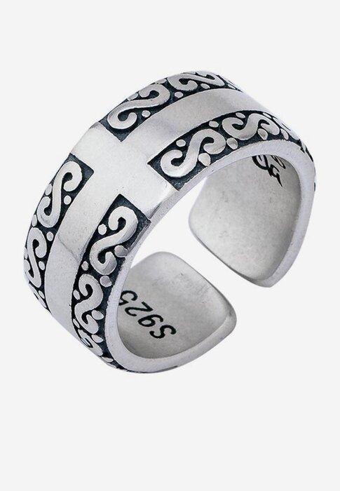 Nhẫn bạc nam Bạc Ngọc Tuấn E15NHA000010