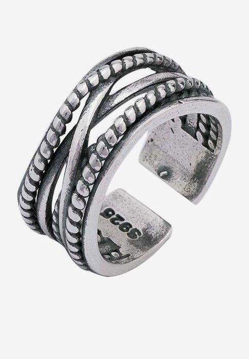 Nhẫn bạc nam Bạc Ngọc Tuấn E15NHA000030