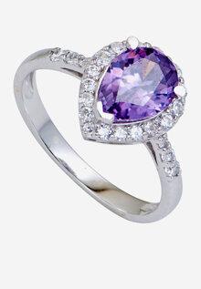 Nhẫn bạc PNJSilver đính đá Synthetic tím SND2KN09057.407