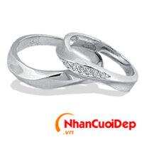 Nhẫn cưới vàng trắng NCD 2024