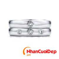 Nhẫn cưới vàng trắng NCD 2108