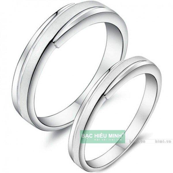 Nhẫn đôi Bạc Hiểu Minh NC005 - Mãi bên nhau