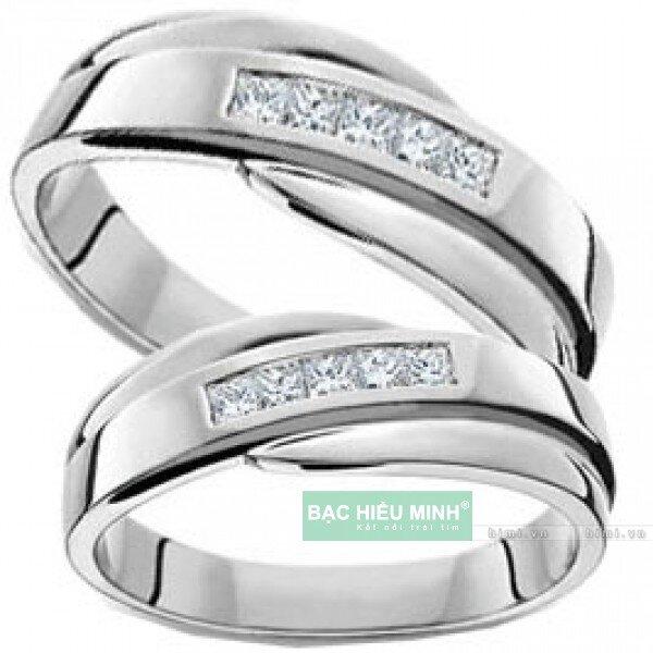 Nhẫn đôi Bạc Hiểu Minh NC020 - Cùng bên nhau