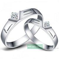 Nhẫn đôi Bạc Hiểu Minh NC060 - Love