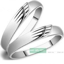 Nhẫn đôi Bạc Hiểu Minh NC075 - Đôi cánh tình yêu