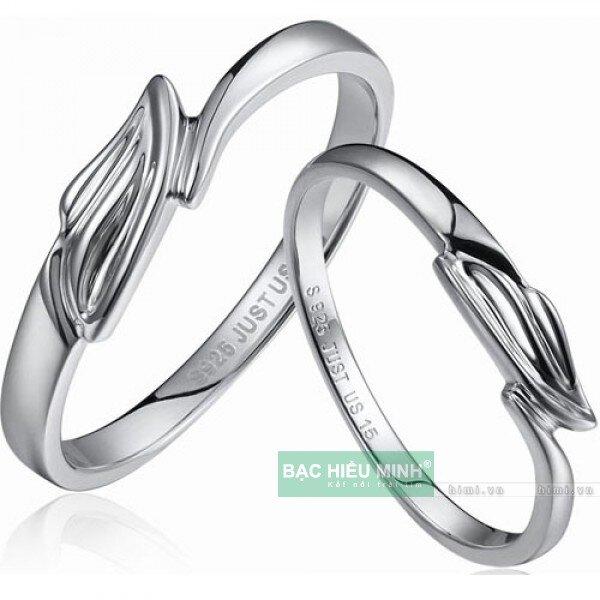 Nhẫn đôi Bạc Hiểu Minh NC076 - Đôi cánh tình yêu