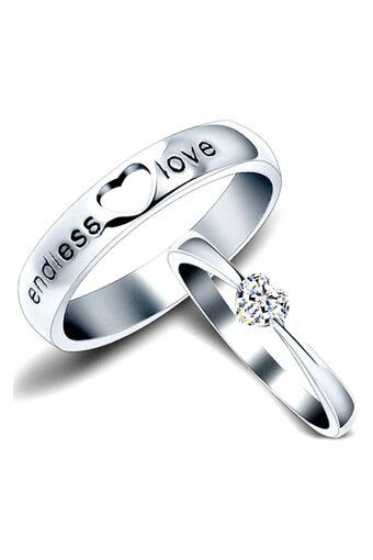 Nhẫn đôi Bạc Hiểu Minh NC135 cầu hôn (Bạc)