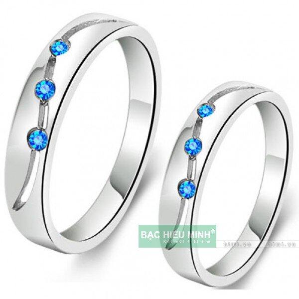 Nhẫn đôi Bạc Hiểu Minh NC145 - Sóng tình yêu