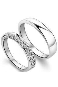 Nhẫn đôi Bạc Hiểu Minh NC156 nhẹ nhàng