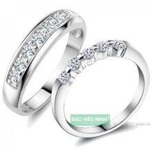 Nhẫn đôi Bạc Hiểu Minh NC216 - Yêu anh nhé em