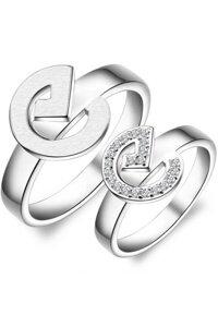 Nhẫn đôi Bạc Hiểu Minh NC243